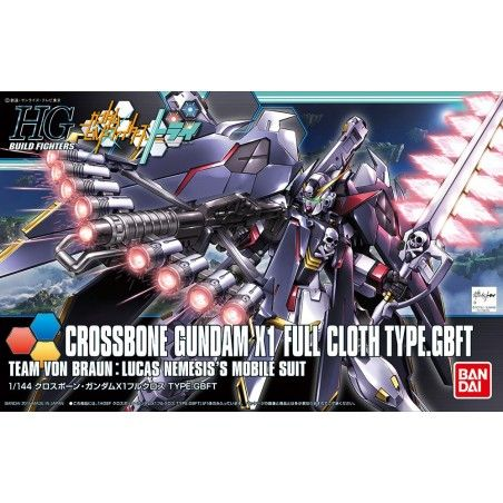 HIGH GRADE HGBF GUNDAM CROSSBONE X1 FULLCLOTH 1/144 MODEL KIT ACTION FIGURE