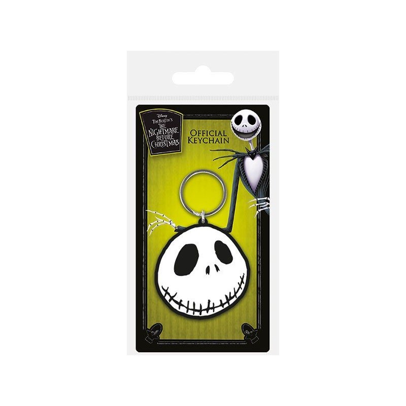 NIGHTMARE BEFORE CHRISTMAS JACK RUBBER KEYCHAIN PORTACHIAVI IN GOMMA PYRAMID INTERNATIONAL