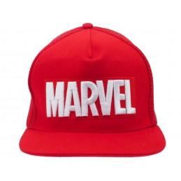 CAPPELLO BASEBALL CAP MARVEL LOGO RED