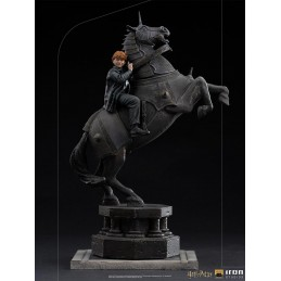 HARRY POTTER DELUXE ART SCALE RON WEASLEY AT THE WIZARD CHESS 1/10 STATUA FIGURE IRON STUDIOS