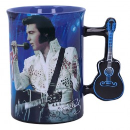 ELVIS PRESLEY THE KING OF ROCK N ROLL MUG TAZZA CERAMICA NEMESIS NOW