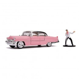 ELVIS PRESLEY AND 1955 CADILLAC FLEETWOOD DIE CAST 1/24 MODEL JADA TOYS