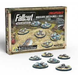MODIPHIUS ENTERTAINMENT FALLOUT WASTELAND WARFARE - MIRELURK HATCHLINGS AND EGGS MINIATURES SET MINIATURE