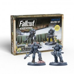 MODIPHIUS ENTERTAINMENT FALLOUT WASTELAND WARFARE - ENCLAVE HELLFIRE SET MINIATURES