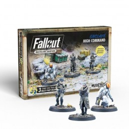 MODIPHIUS ENTERTAINMENT FALLOUT WASTELAND WARFARE - ENCLAVE HIGH COMMAND SET MINIATURES