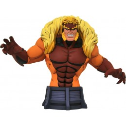 MARVEL ANIMATED X-MEN SABRETOOTH BUSTO STATUA 17CM RESINA FIGURE DIAMOND SELECT