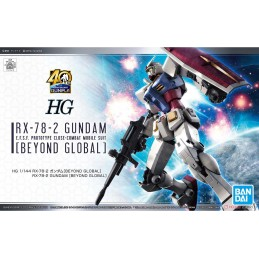 BANDAI HIGH GRADE HG GUNDAM RX-78-2 BEYOND GLOBAL 1/144 MODEL KIT FIGURE