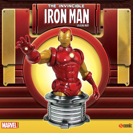 MARVEL THE INVINCIBLE IRON MAN BUST STATUE 20CM RESIN FIGURE