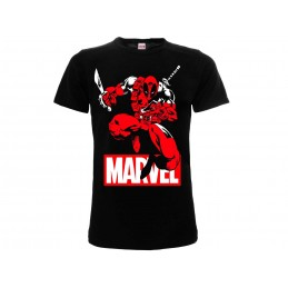 MAGLIA T SHIRT MARVEL DEADPOOL COMIC NERA