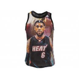 A STARS LEAGUE LEBRON JAMES HEAT BLACK TANK TOP