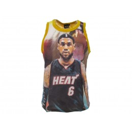 A STARS LEAGUE LEBRON JAMES HEAT YELLOW TANK TOP