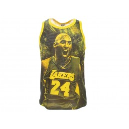 A STARS LEAGUE KOBE BRYANT YELLOW TANK TOP