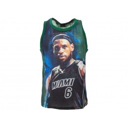 A STARS LEAGUE LEBRON JAMES MIAMI GREEN TANK TOP