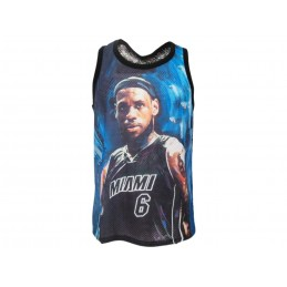 A STARS LEAGUE LEBRON JAMES MIAMI BLACK TANK TOP