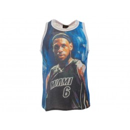 A STARS LEAGUE LEBRON JAMES MIAMI WHITE TANK TOP