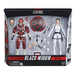 MARVEL LEGENDS BLACK WIDOW RED GUARDIAN AND MELINA ACTION FIGURE HASBRO