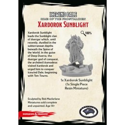 GF9-BATTLEFRONT DUNGEONS AND DRAGONS ICEWIND DALE XARDOROK SUNBLIGHT MINI FIGURE