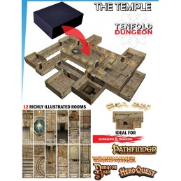 TENFOLD DUNGEON THE TEMPLE PER MINIATURE GAMES DM VAULT