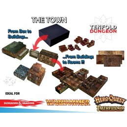 TENFOLD DUNGEON THE TOWN PER MINIATURE GAMES DM VAULT