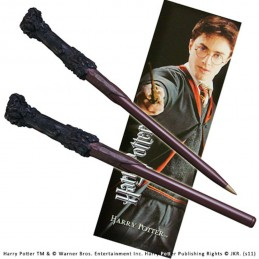 NOBLE COLLECTIONS HARRY POTTER WAND PEN AND BOOKMARK REPLICA