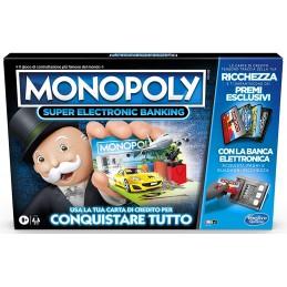 HASBRO MONOPOLY SUPER ELECTRONIC BANKING - GIOCO DA TAVOLO ITALIANO