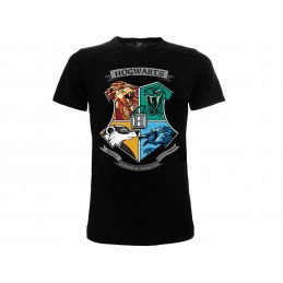 MAGLIA T SHIRT HARRY POTTER ANIMALI CASATE HOGWARTS