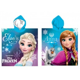 DISNEY FROZEN PONCHO BEACH BATH TOWEL TELO DA MARE