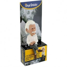 ALBERT EINSTEIN COMPUTER SITTER HEADKNOCKER BOBBLE HEAD FIGURE