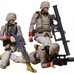 MOBILE SUIT GUNDAM EARTH UNITED ARMY SOLDIER SET 3 ACTION FIGURES MEGAHOUSE