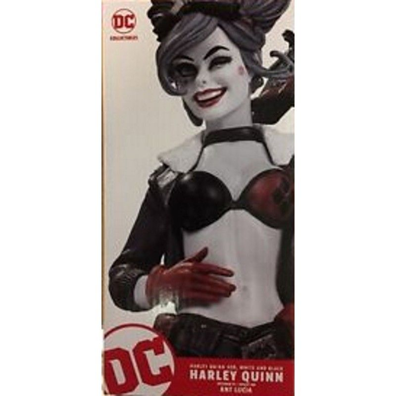 BOMBSHELLS HARLEY QUINN RED WHITE AND BLACK STATUE FIGURE DC COLLECTIBLES