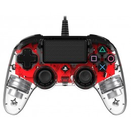 NACON CONTROLLER WIRED DUAL SHOCK 4 PS4 ROSSO LUMINOSO