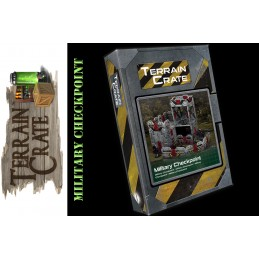 TERRAIN CRATE - MILITARY CHECKPOINT DIORAMA MINIATURES MANTIC