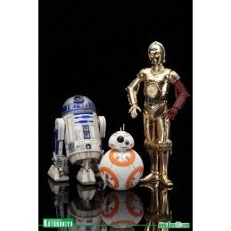STAR WARS R2-D2 AND C-3PO WITH BB-8 ARTFX+ STATUE FIGURE KOTOBUKIYA