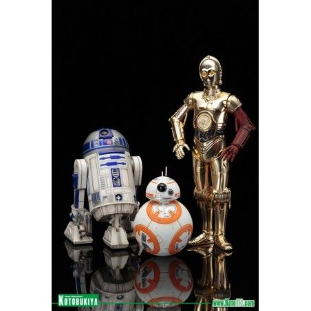 STAR WARS R2-D2 AND C-3PO WITH BB-8 ARTFX+ STATUE FIGURE