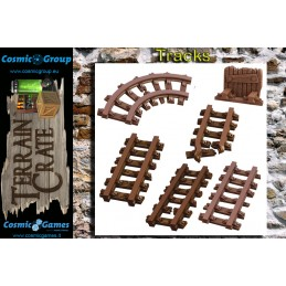 TERRAIN CRATE - MINE TRACKS DIORAMA MINIATURES MANTIC
