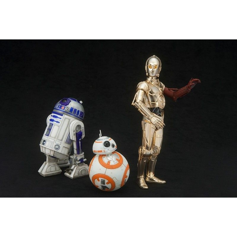 KOTOBUKIYA STAR WARS R2-D2 AND C-3PO WITH BB-8 ARTFX+ STATUE FIGURE