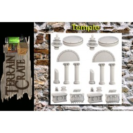 TERRAIN CRATE - TEMPLE DIORAMA MINIATURES MANTIC