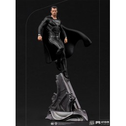 ZACK SNYDER'S JUSTICE LEAGUE SUPERMAN BLACK COSTUME ART SCALE 1/10 STATUA FIGURE IRON STUDIOS