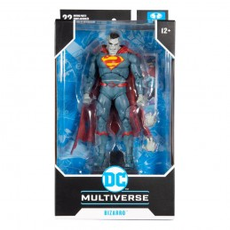 DC MULTIVERSE SUPERMAN BIZARRO ACTION FIGURE MC FARLANE