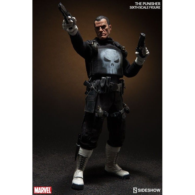 "MARVEL FRANK CASTLE PUNISHER 12"" ACTION FIGURE SIDESHOW"