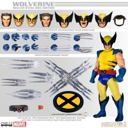 MARVEL COMICS WOLVERINE DELUXE STEEL BOX ONE:12 ACTION FIGURE MEZCO TOYS