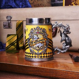 NEMESIS NOW HARRY POTTER HUFFLEPUFF LOGO TANKARD RESIN BOCCALE