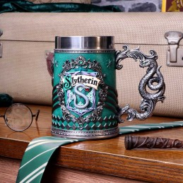 NEMESIS NOW HARRY POTTER SLYTHERIN LOGO TANKARD RESIN BOCCALE