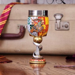 NEMESIS NOW HARRY POTTER HOGWARTS LOGO GOBLET RESIN CALICE