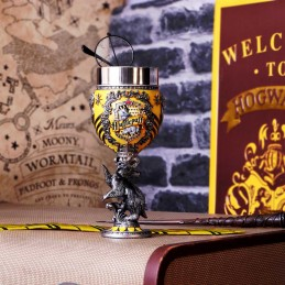 NEMESIS NOW HARRY POTTER HUFFLEPUFF LOGO GOBLET RESIN CALICE