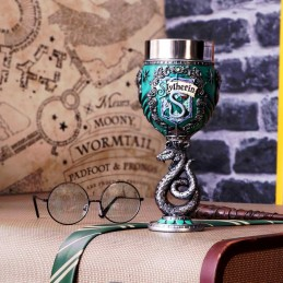 NEMESIS NOW HARRY POTTER SLYTHERIN LOGO GOBLET RESIN CALICE