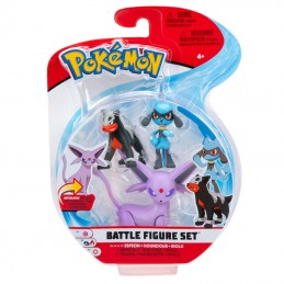 BOTI POKEMON BATTLE FIGURE SET ESPEON HOUNDOUR RIOLU FIGURES
