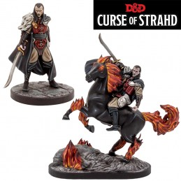 DUNGEONS AND DRAGONS CURSE OF STRAHD SET FOOT AND MOUNTED MINI FIGURES GF9-BATTLEFRONT
