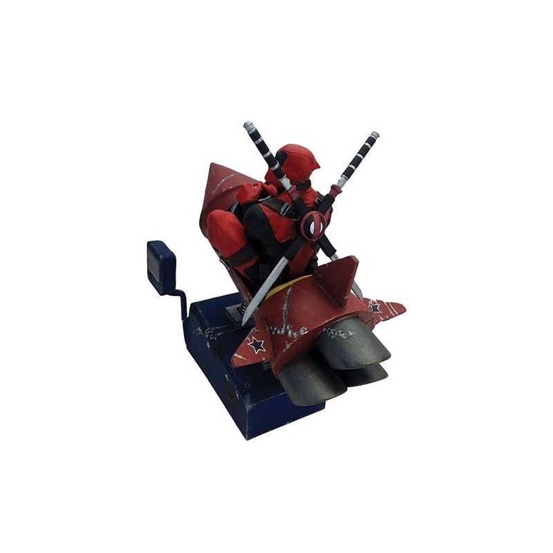 FACTORY ENTERTAINMENT MARVEL COMICS DEADPOOL ROCKET RIDE MOTION STATUE