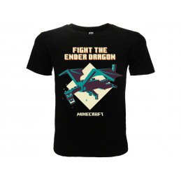 MAGLIA T SHIRT MINECRAFT THE ENDER DRAGON